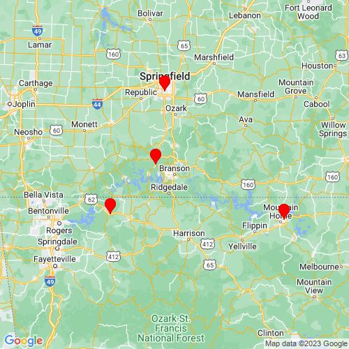 Map of Branson, MO