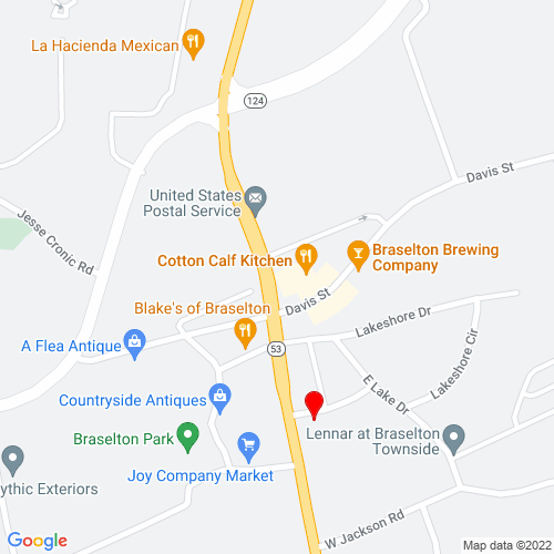 Map of Braselton, GA