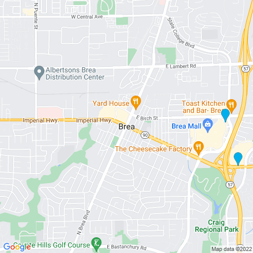Map of Brea, CA