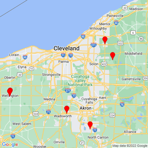 Map of Brecksville, OH
