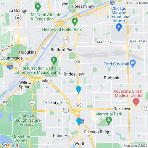 Map of Bridgeview, IL