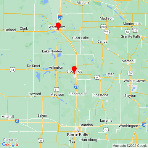 Map of Brookings, SD
