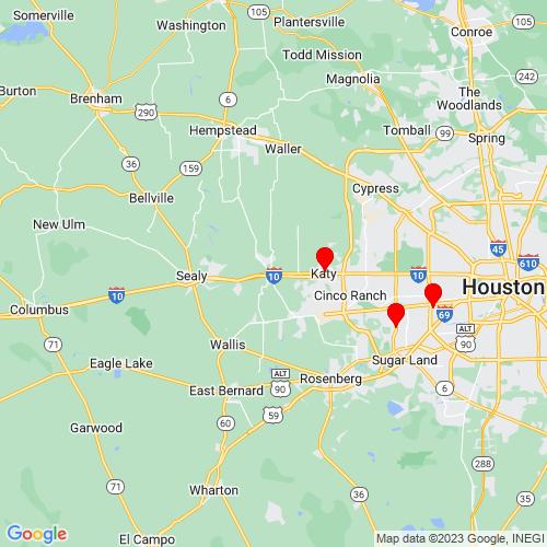 Map of Brookshire, TX
