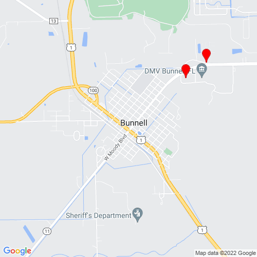 Map of Bunnell, FL