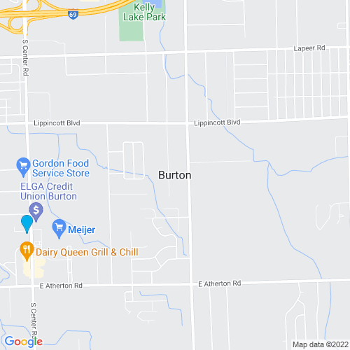 Map of Burton, MI