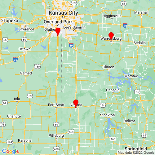 Map of Butler, MO