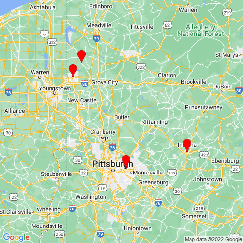 Map of Butler, PA