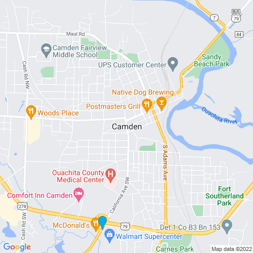 Map of Camden, AR