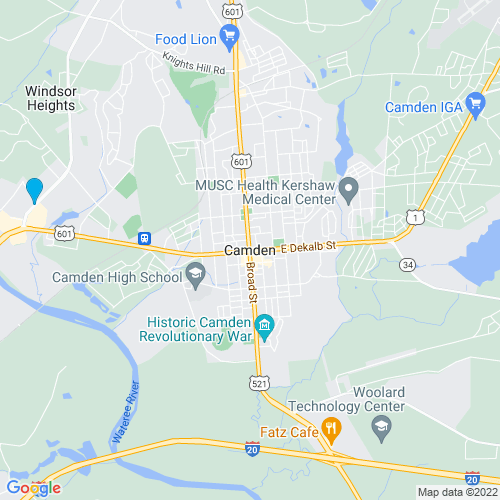 Map of Camden, SC