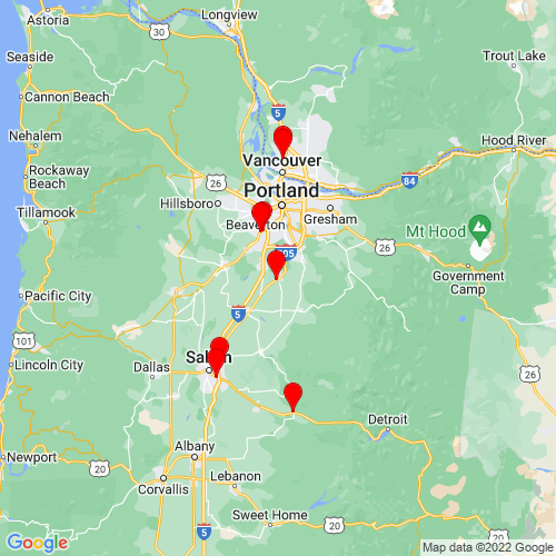 Map of Canby, OR