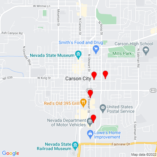 Map of Carson City, NV