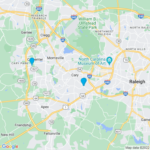 Map of Cary, NC