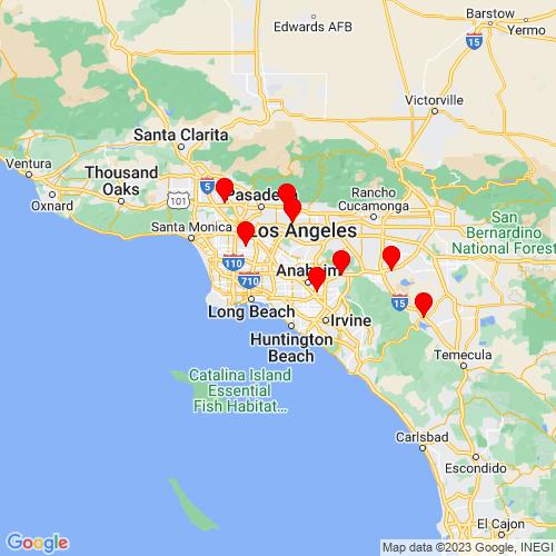 Map of Cerritos, CA