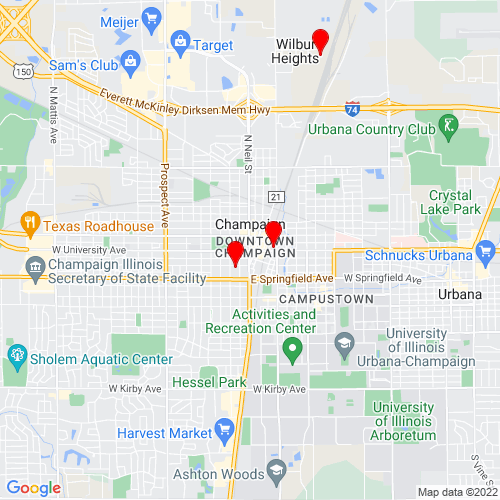 Map of Champaign, IL