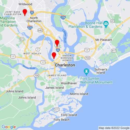 Map of Charleston, SC