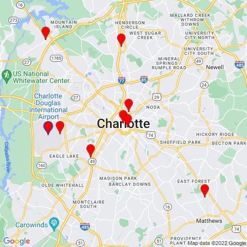 Map of Charlotte, NC