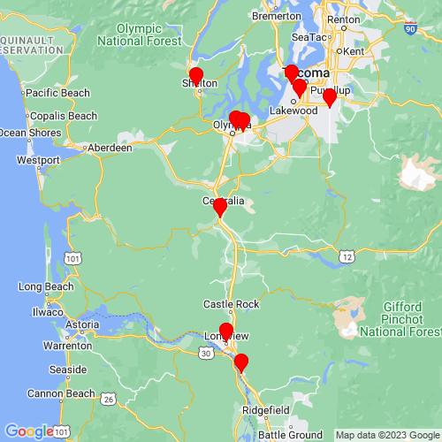 Map of Chehalis, WA