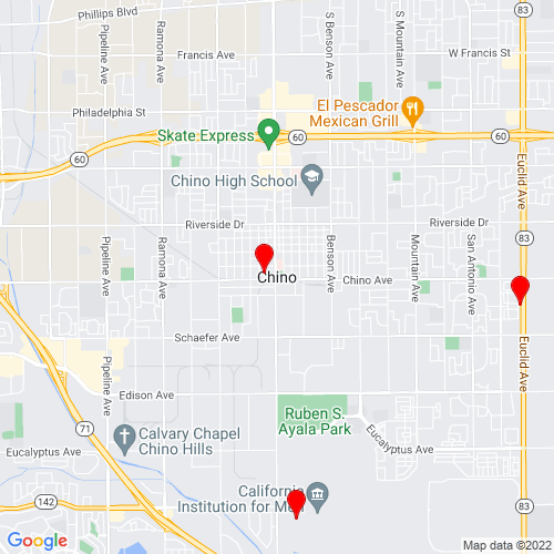 Map of Chino, CA
