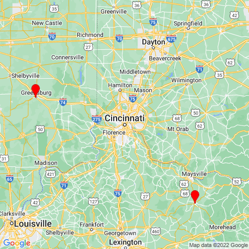 Map of Cincinnati, OH