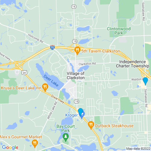 Map of Clarkston, MI