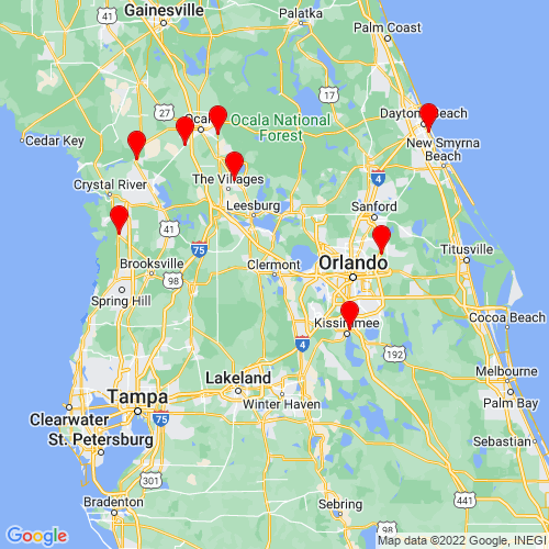 Map of Clermont, FL