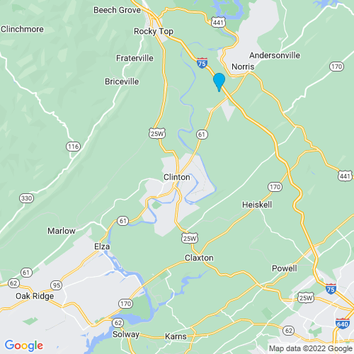 Map of Clinton, TN