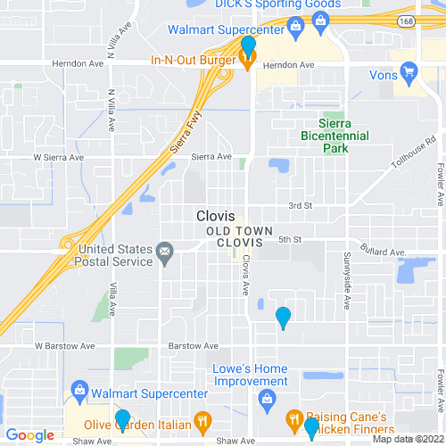 Map of Clovis, CA