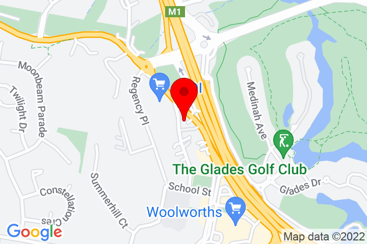 Map of Cnr+Robert+St+&+Railway+St,+Mudgeeraba,+QLD+4213