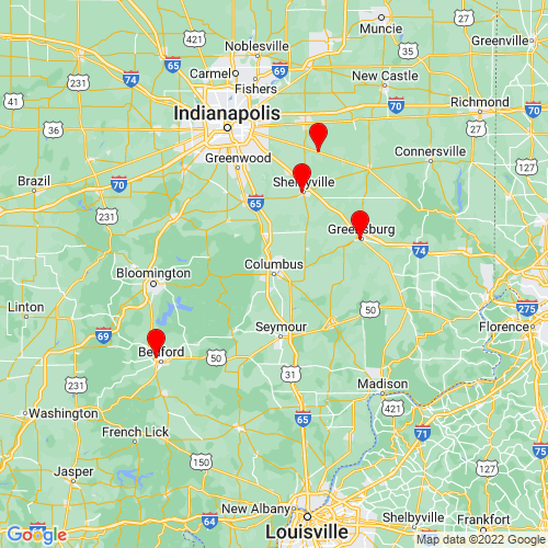 Map of Columbus, IN