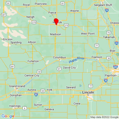 Map of Columbus, NE