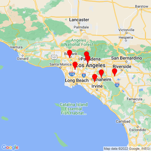 Map of Compton, CA