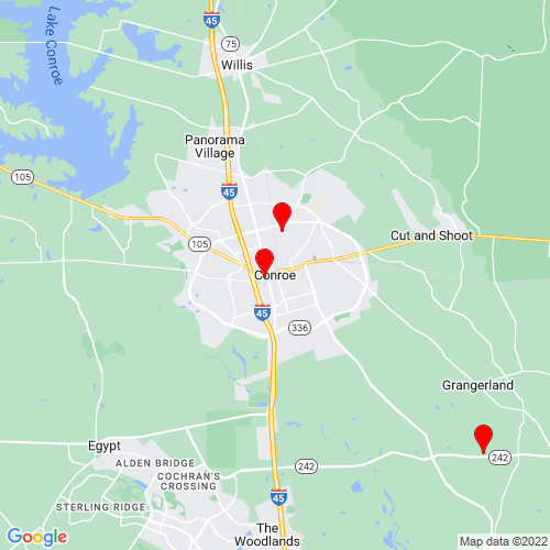 Map of Conroe, TX