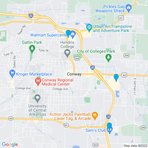 Map of Conway, AR