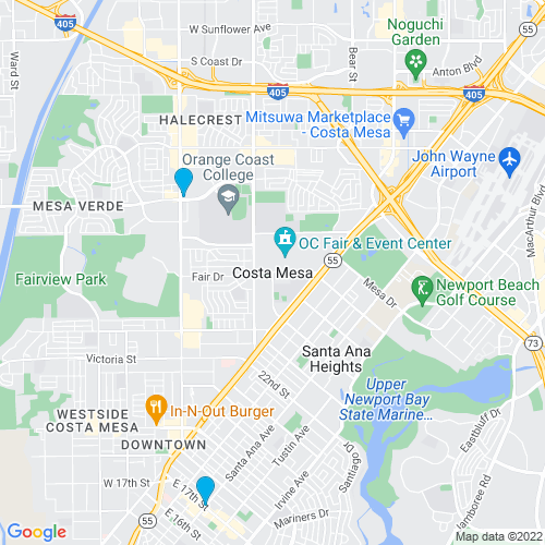 Map of Costa Mesa, CA