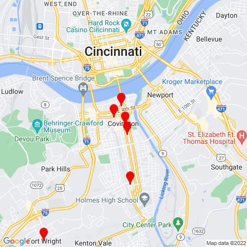 Map of Covington, KY