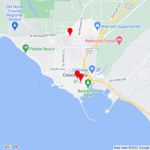 Map of Crescent City, CA