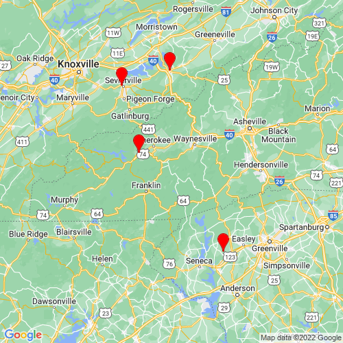 Map of Cullowhee, NC