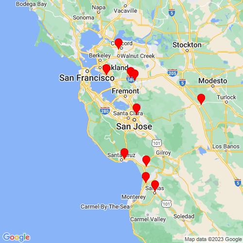 Map of Cupertino, CA