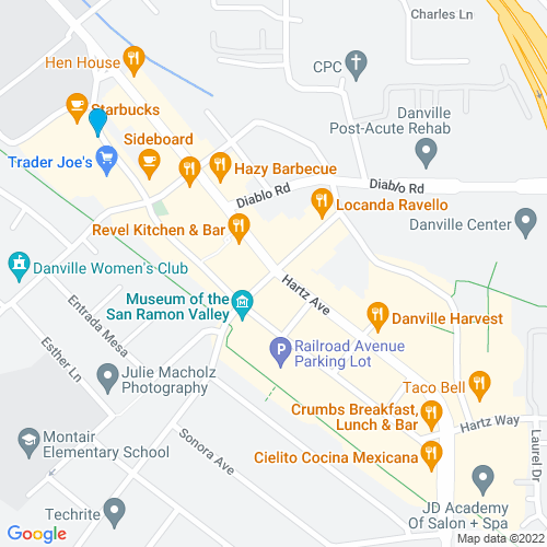 Map of Danville, CA