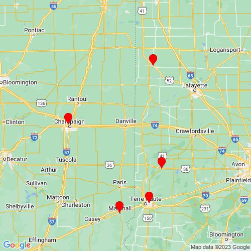 Map of Danville, IL