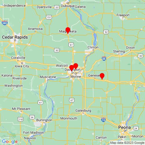 Map of Davenport, IA