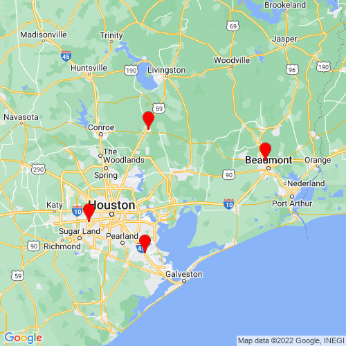 Map of Dayton, TX