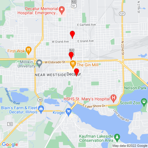 Map of Decatur, IL