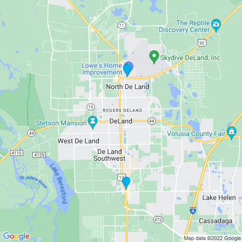 Map of Deland, FL