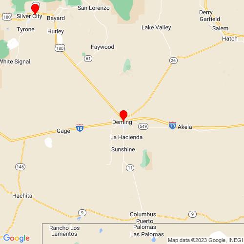 Map of Deming, NM