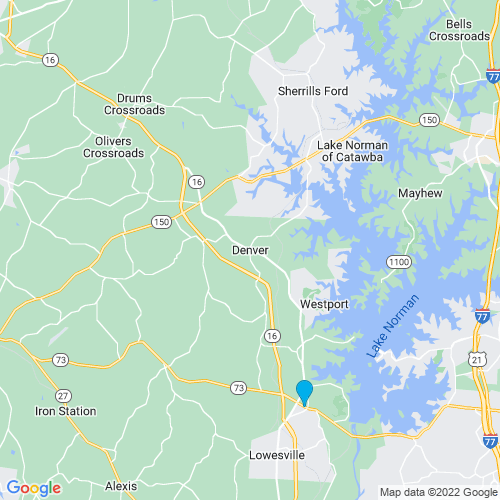 Map of Denver, NC