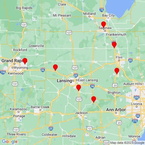 Map of Dewitt, MI