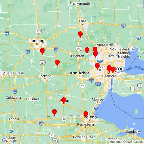 Map of Dexter, MI