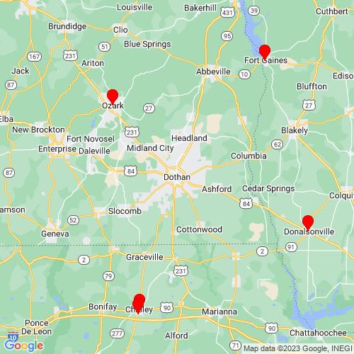 Map of Dothan, AL