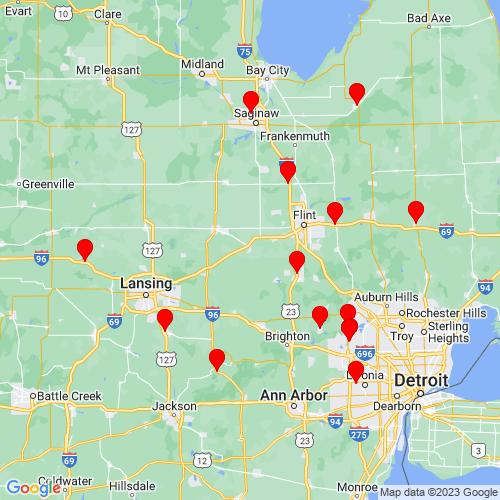 Map of Durand, MI